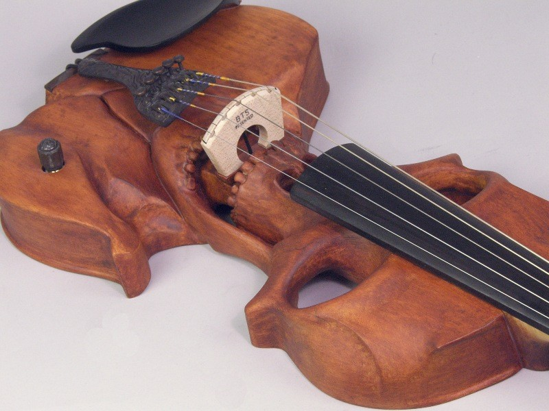 Skull Violin Bridge View